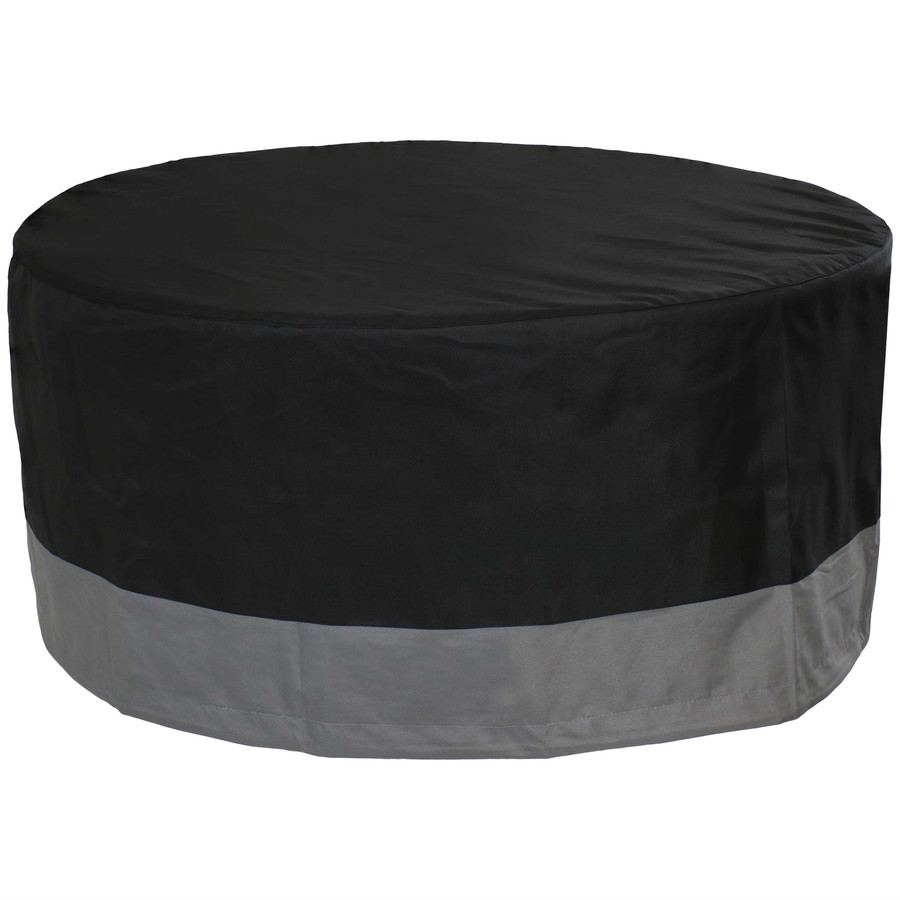 Sunnydaze Round 2-Tone Outdoor Fire Pit Cover - Gray/Black - 30-Inch Diameter