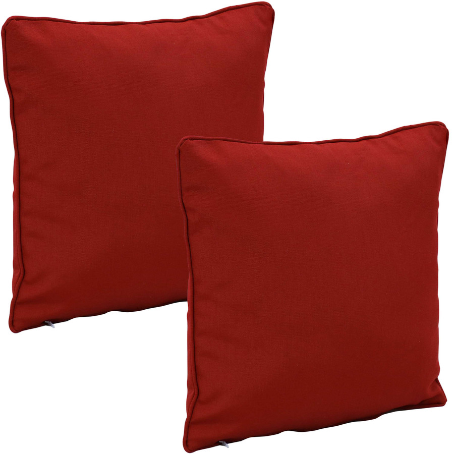 Outdoor Decorative Throw Pillows, Set of 2, Red