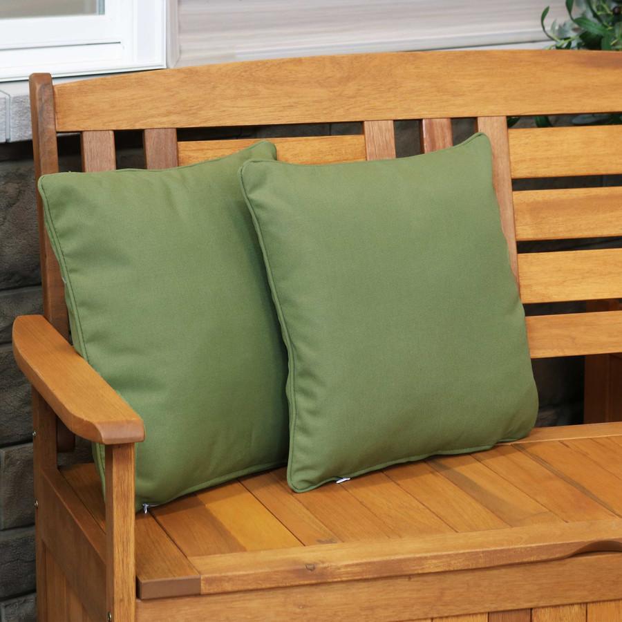 Outdoor Decorative Throw Pillows, Set of 2, Dark Green