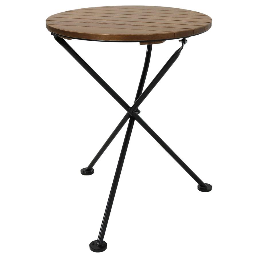 Sunnydaze French Country European Chestnut Wood Round Bistro Table, 24-Inch Round