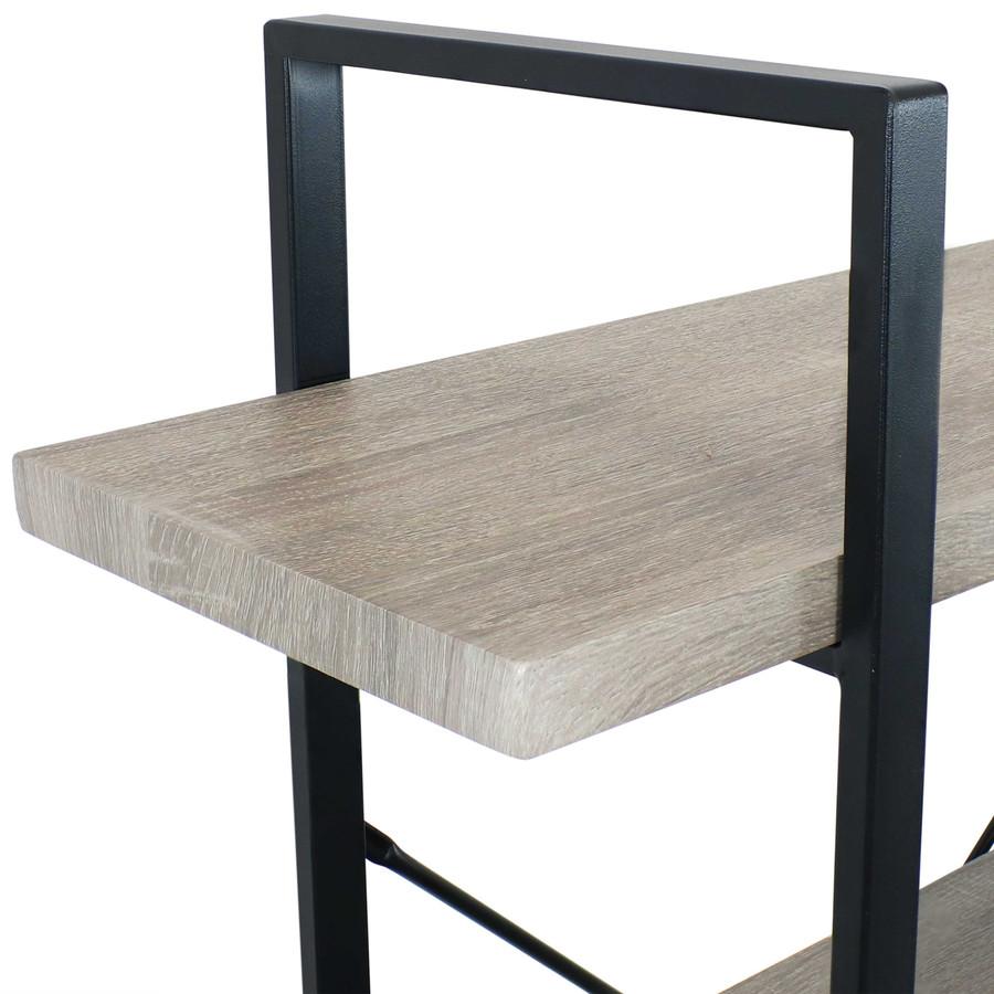 Oak Gray Shelf Closeup