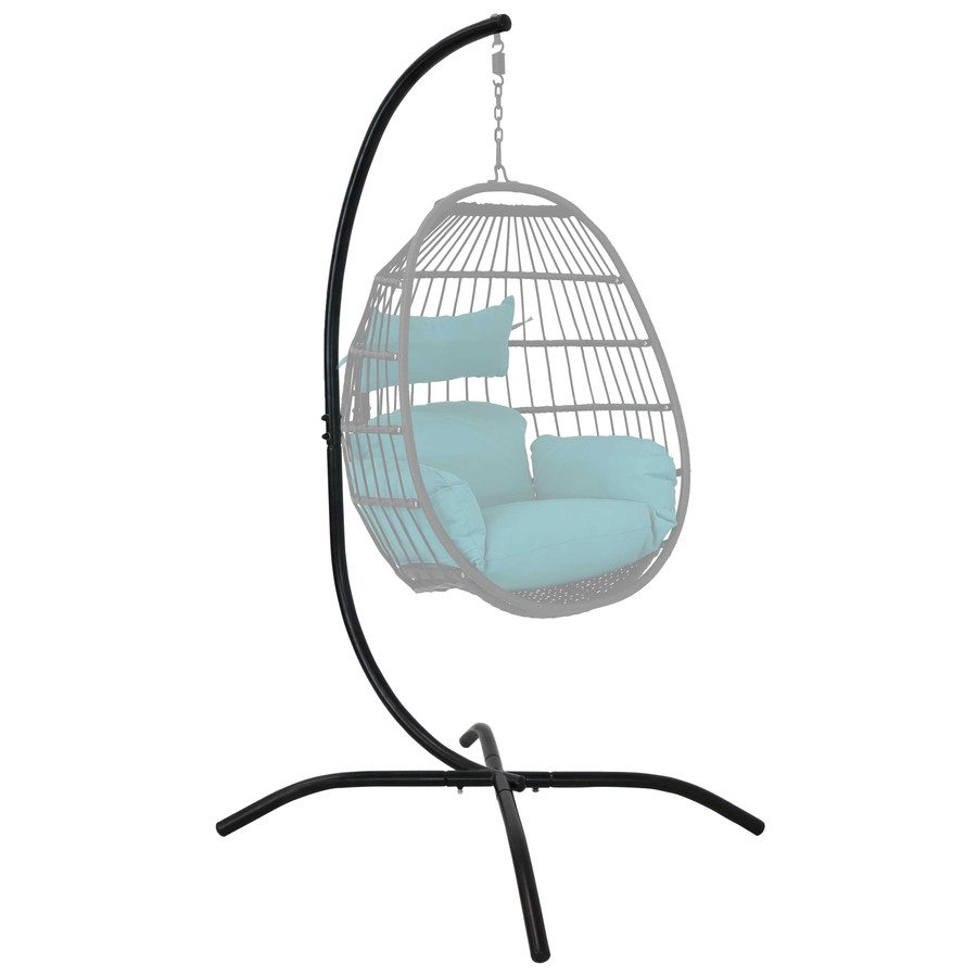 Steel Hanging Egg Chair Stand with Curved Leg Base Shown with Egg Chair (Egg Chair NOT Included)