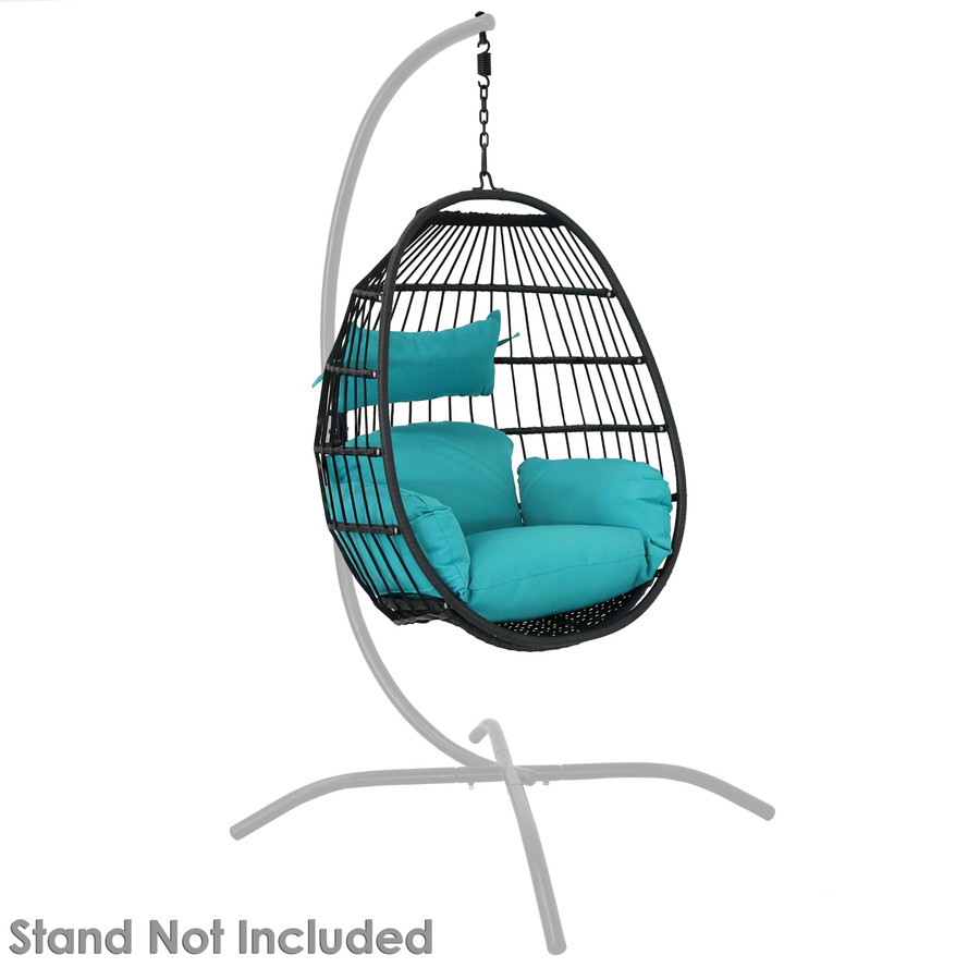 Dalia Steel Hanging Egg Chair with Cushions (Stand Not Included)
