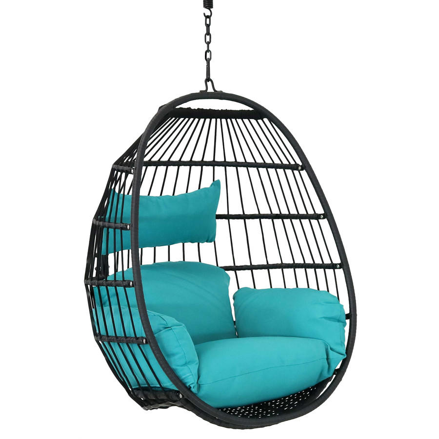 Dalia Steel Hanging Egg Chair with Cushions