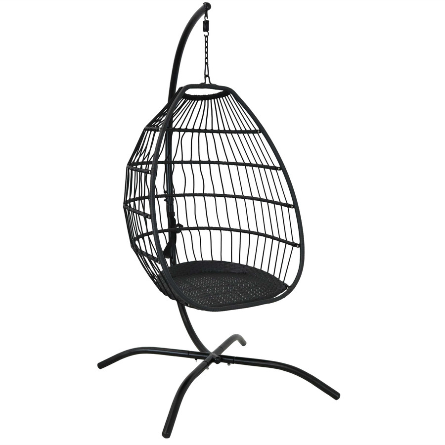 Delaney Steel Hanging Egg Chair and Steel Stand