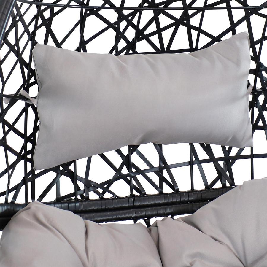 Closeup of Gray Headrest Cushion