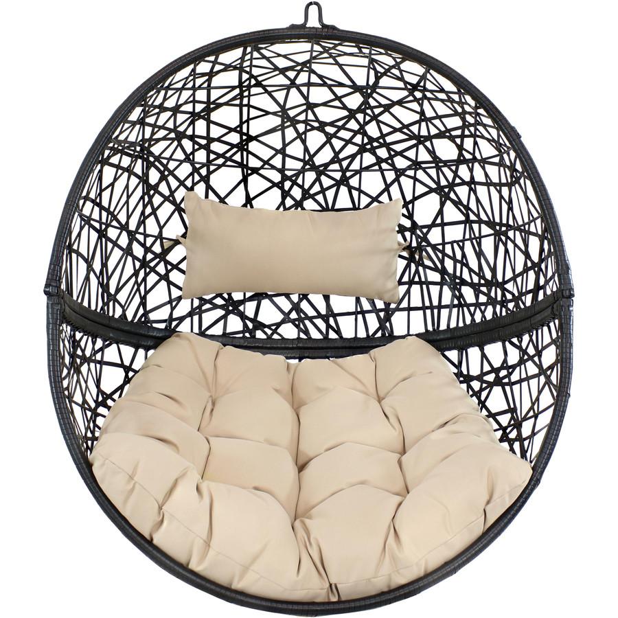 Jackson Hanging Egg Chair, Cream