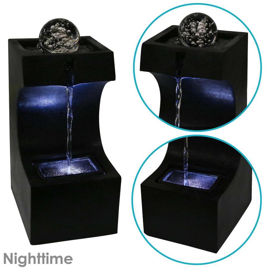 Nighttime View of Fountain