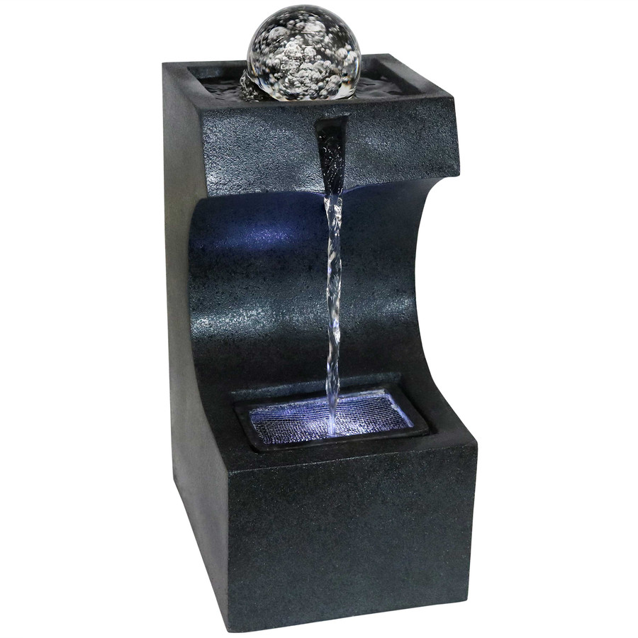 Soothing Matrix Indoor Tabletop Water Fountain with LED Light