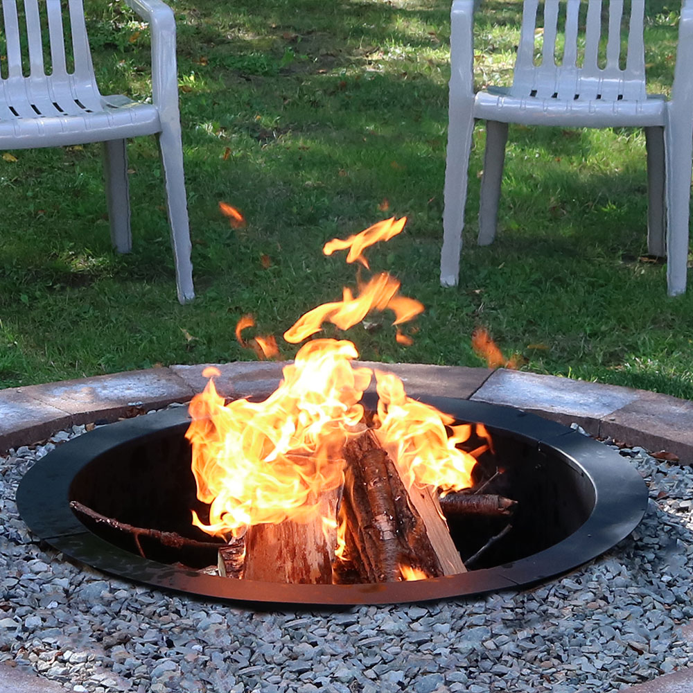 Sunnydaze Decor 27 Inch Fire Ring In Ground Fire Pit