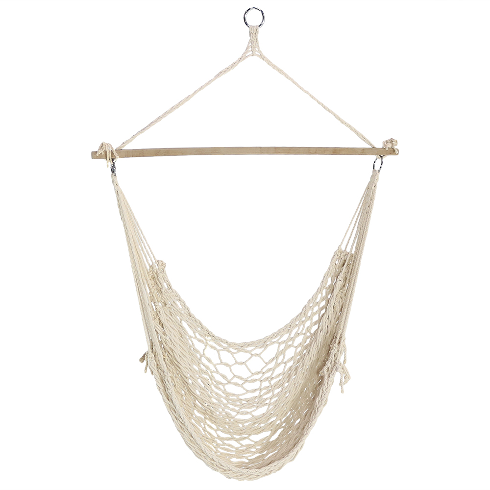 Sunnydaze 48 Hanging Cotton Rope Hammock Chair Swing