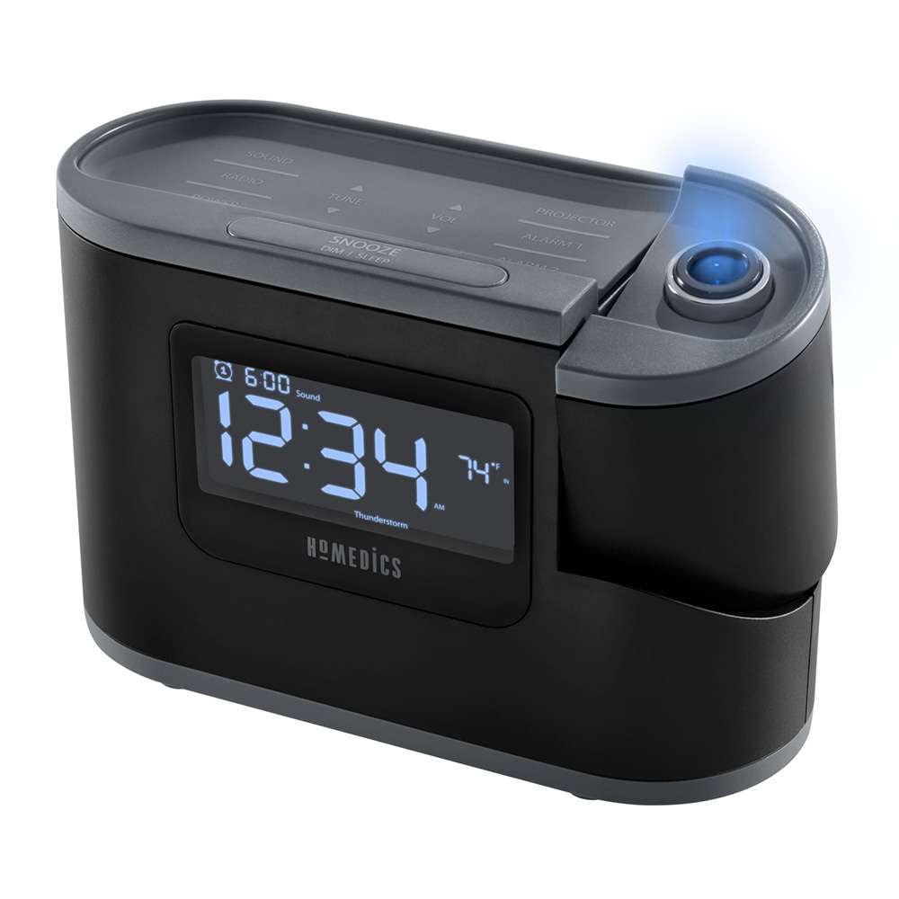 39f6697f658 HoMedics SoundSpa Recharged Projection Alarm Clock with Temperature Sensor