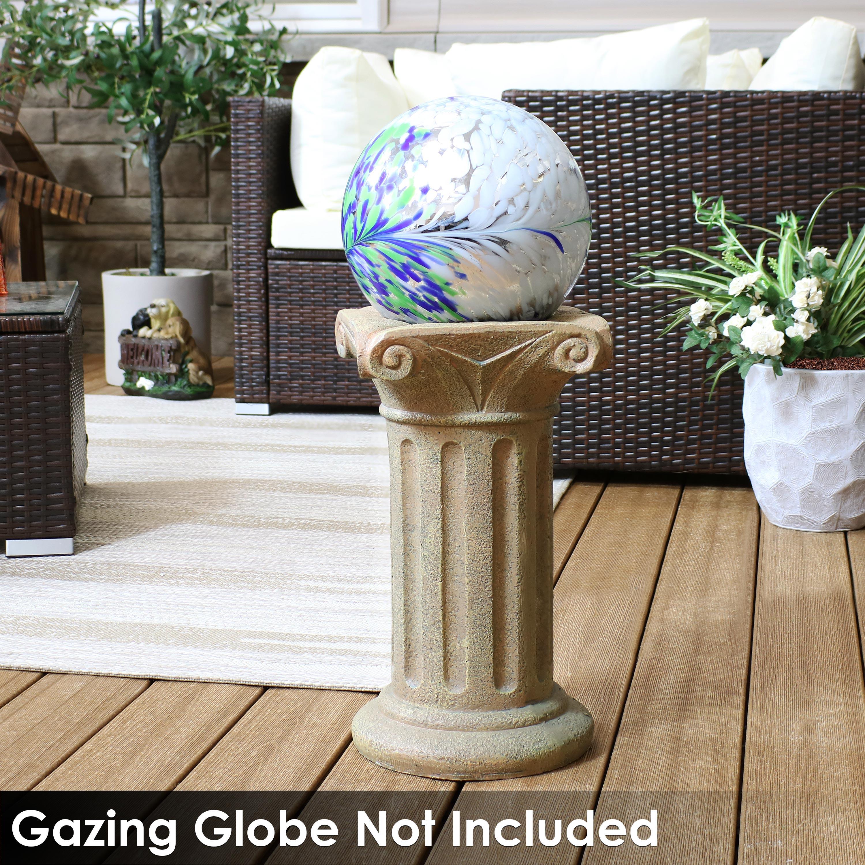 Sunnydaze Roman Pedestal Indoor Outdoor Gazing Globe Stand