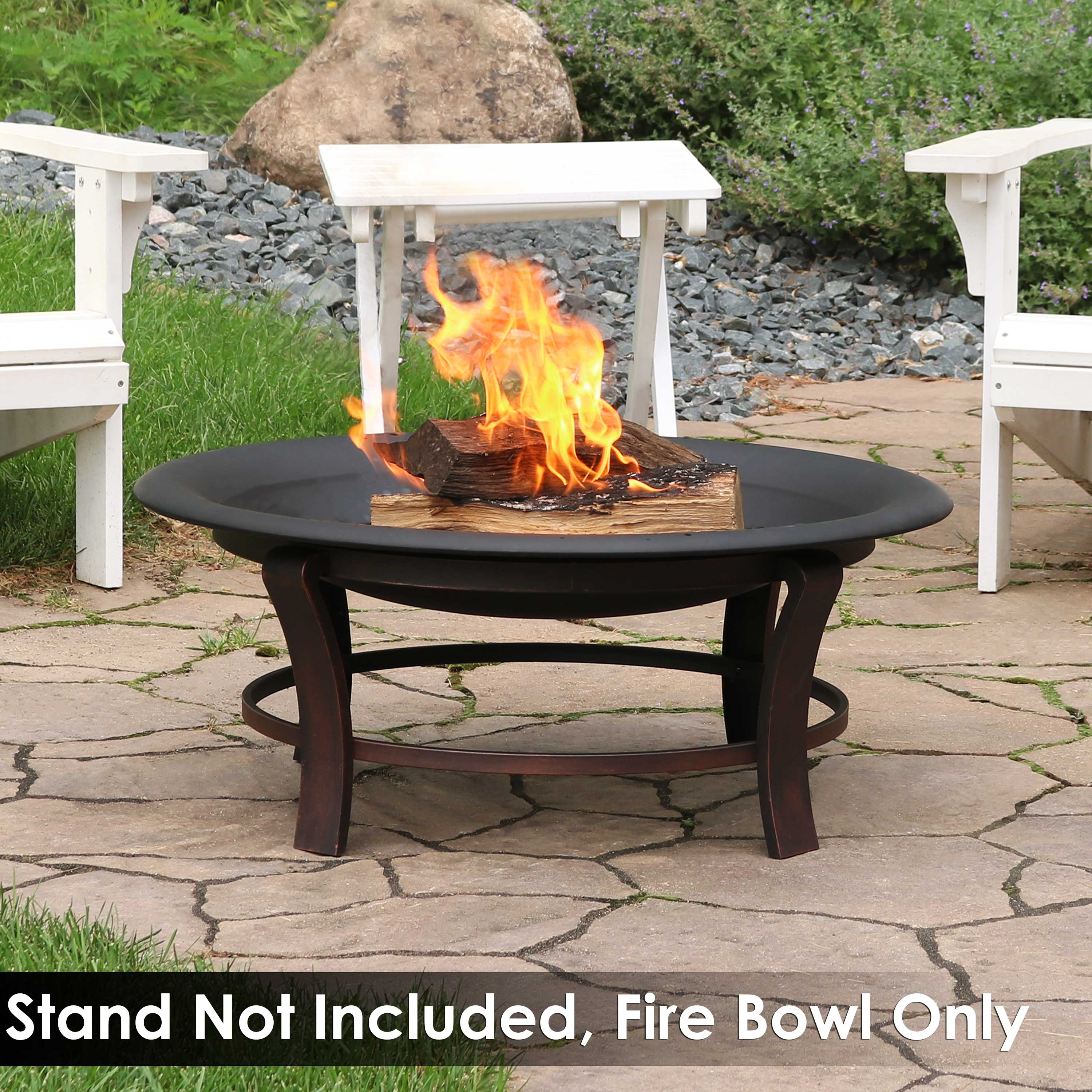 Sunnydaze Outdoor Replacement Fire Bowl For Diy Or Existing Fire Pits Steel With High Temperature Paint Finish Round Wood Burning Pit