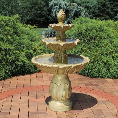 Sunnydaze Tulip 3 Tier Outdoor Water Fountain 46