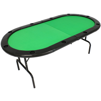 poker table oval