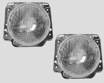 "MK2 7"" Round Headlights, Pair"