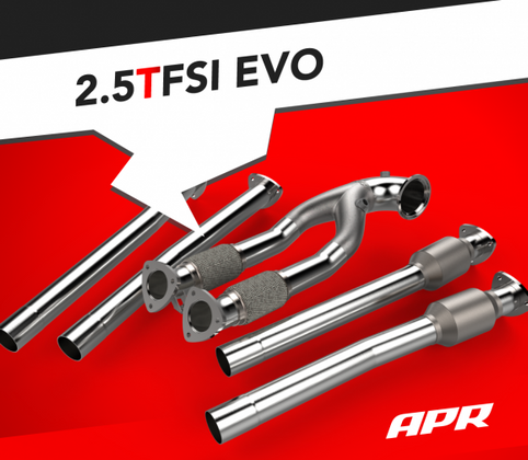 APR Race DP and Midpipes for the 2.5 TFSI EVO!