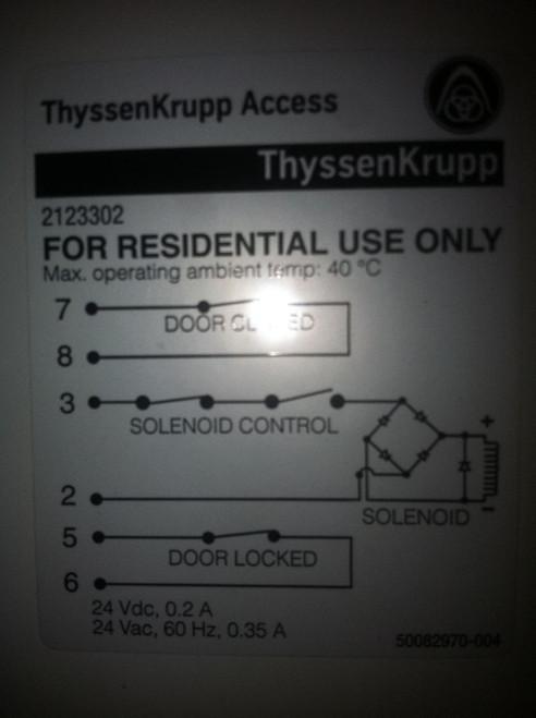 TKA/Lev Rise or LEV Right hand door Interlock