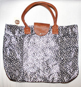 Folding Full Size Tote - Cheetah