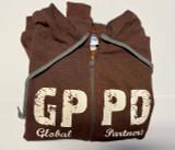 GPPD Zip Hoodie - Brown Size Large