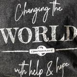Long Sleeve Tee -  Changing The World - gray