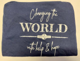 Long Sleeve Tee - Changing the World Blue