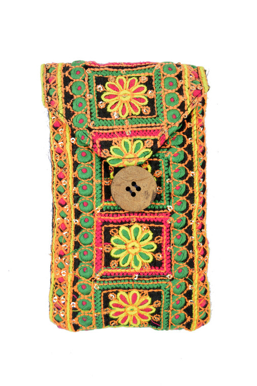 Passport/Phone Bag in Bright Flower