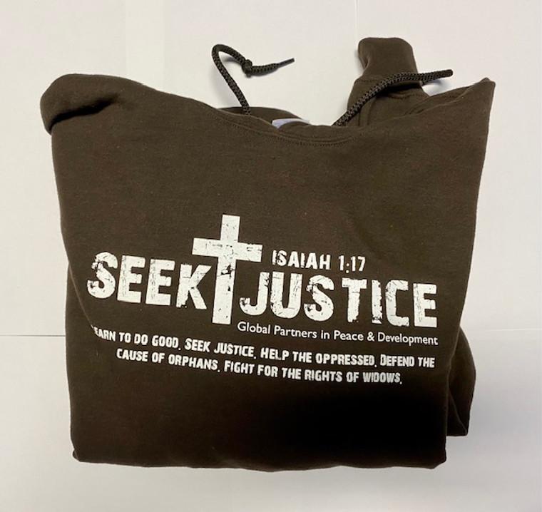 Seek Justice Hoodie - Brown Size L