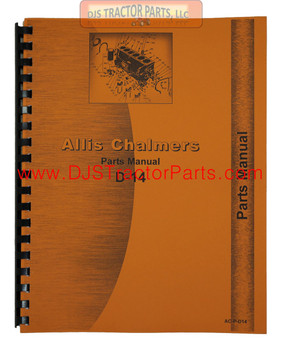 ALLIS CHALMERS D14 Gas LP Parts Manual