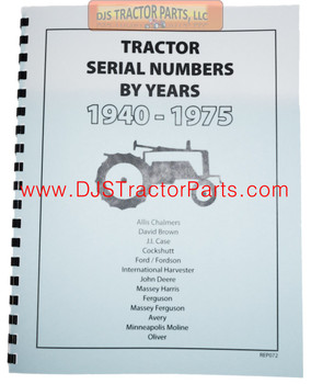 TRACTOR SERIAL NUMBERS (1940-1975) - MAN072D