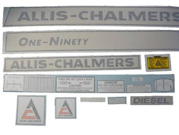 Allis Chalmers 190 One-Ninety Diesel VINYL CUT DECAL SET - DJS306a