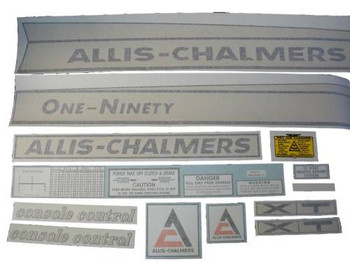 Allis Chalmers 190 One-Ninety XT VINYL CUT DECAL SET - DJS170