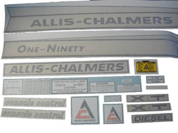Allis Chalmers 190 One-Ninety XT Diesel VINYL CUT DECAL SET - DJS170a