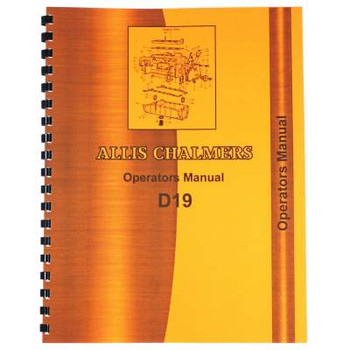 Allis Chalmers D19 Operators Manual
