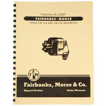 Fairbanks Morse FM-J Magneto Parts & Instruction Manual