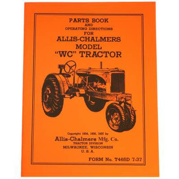 Allis Chalmers Unstyled WC Operators / Parts Manual
