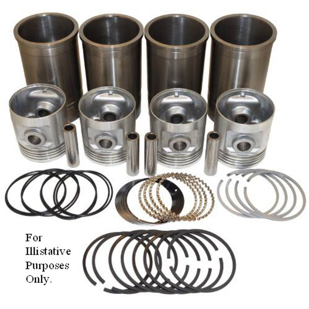 "Pistons Sleeves and Rings Kit 4-1/8"" overbore  Allis Chalmers WC WF WD"