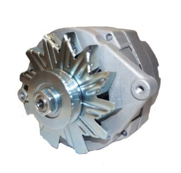 63 AMP ONE WIRE ALTERNATOR - USED FOR CONVERTING 6 VOLT TO 12 VOLT 3/8 PULLEY