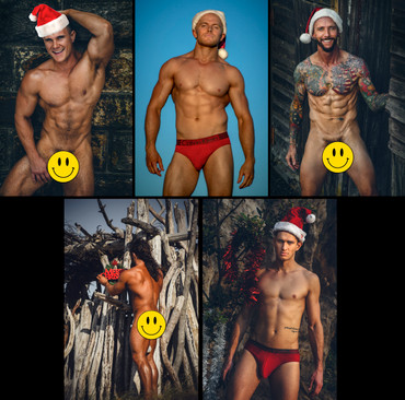 Manscapes Handcrafted Christmas Card Set #2 (5 cards)