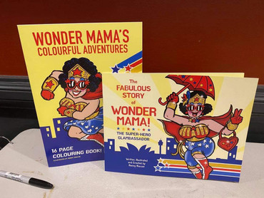 Wonder Mama's Colourful Adventures (16-page Colouring Book)