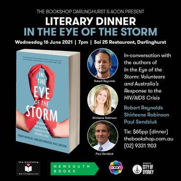 In the Eye of the Storm Literary Dinner - Wednesday 16 June 2021