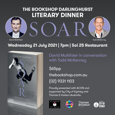 Literary Dinner - David McAllister in conversation with Todd McKenney - Wednesday 21 July, from 7pm