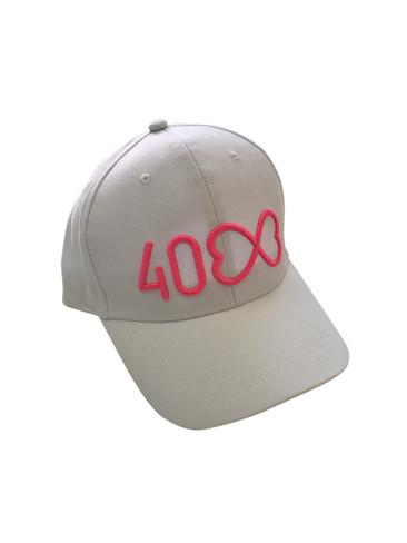 Mardi Gras 40th Anniversary Cap (White)