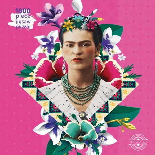 Adult Jigsaw Puzzle Frida Kahlo Pink