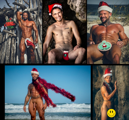 Manscapes Handcrafted Christmas Card Set #1 (5 cards)