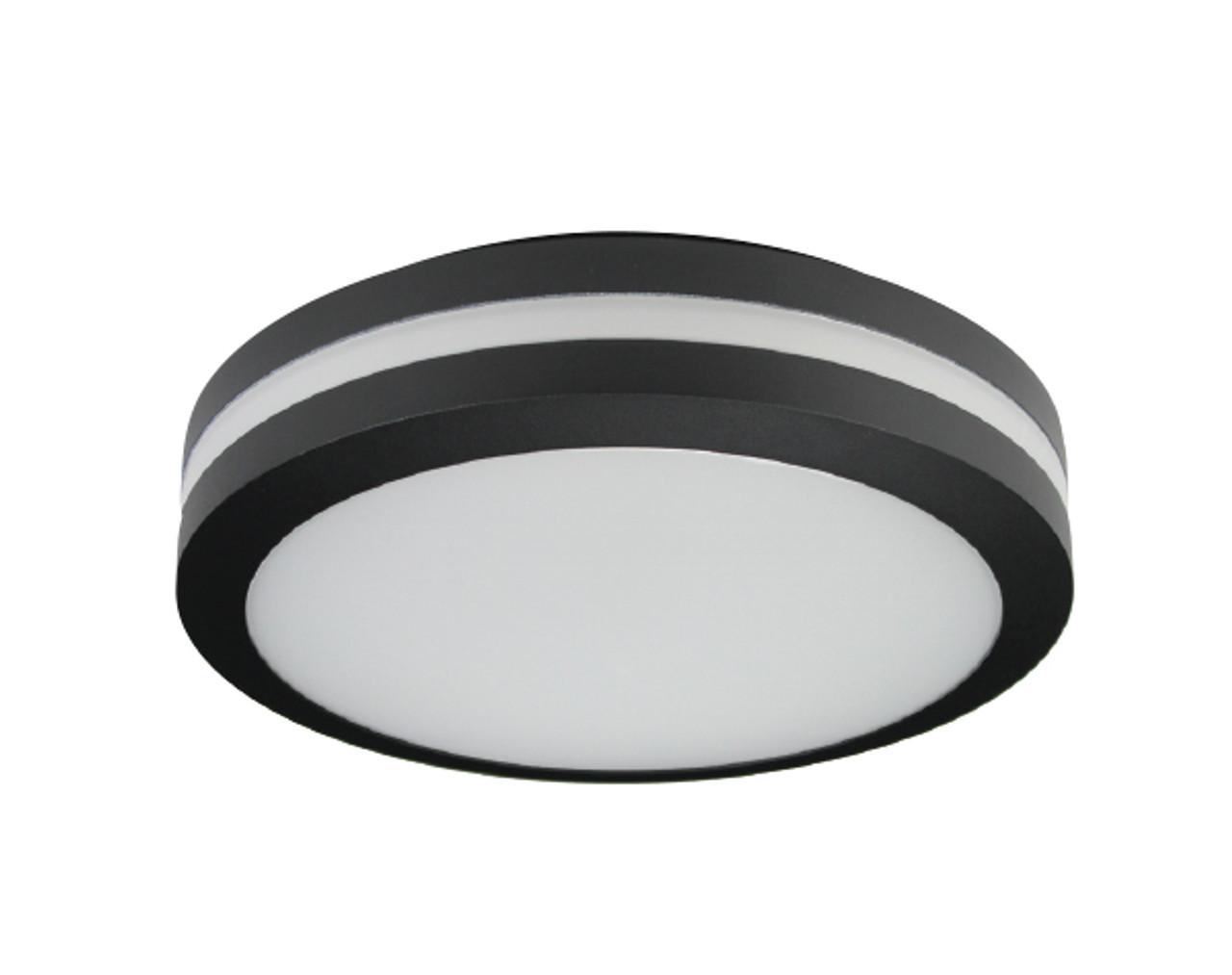 Motion Sensor Led Bulkhead Light Ceiling Or Wall Mount Outdoor Wet Location Ul Listed 14 Watt 1350 Lumens 3000k With Black Finish Superior Lighting