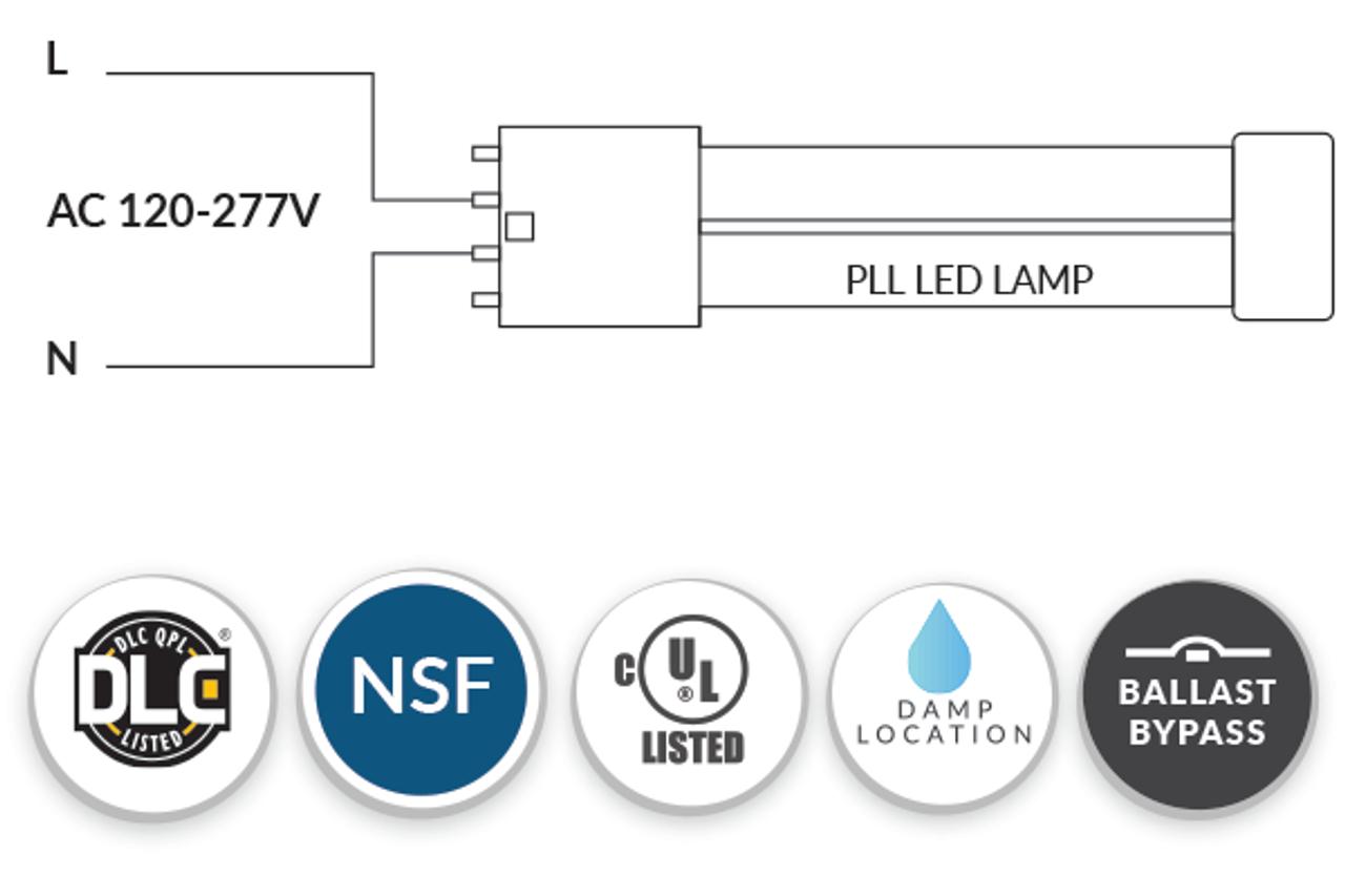 2G11 23 Watt LED/CFL Ballast Bypass Replacement For 4-Pin