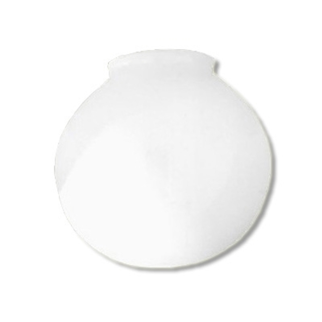 Plastic Light Covers >> 10 Inch Plastic Globe Plain Lip Opening White Acrylic