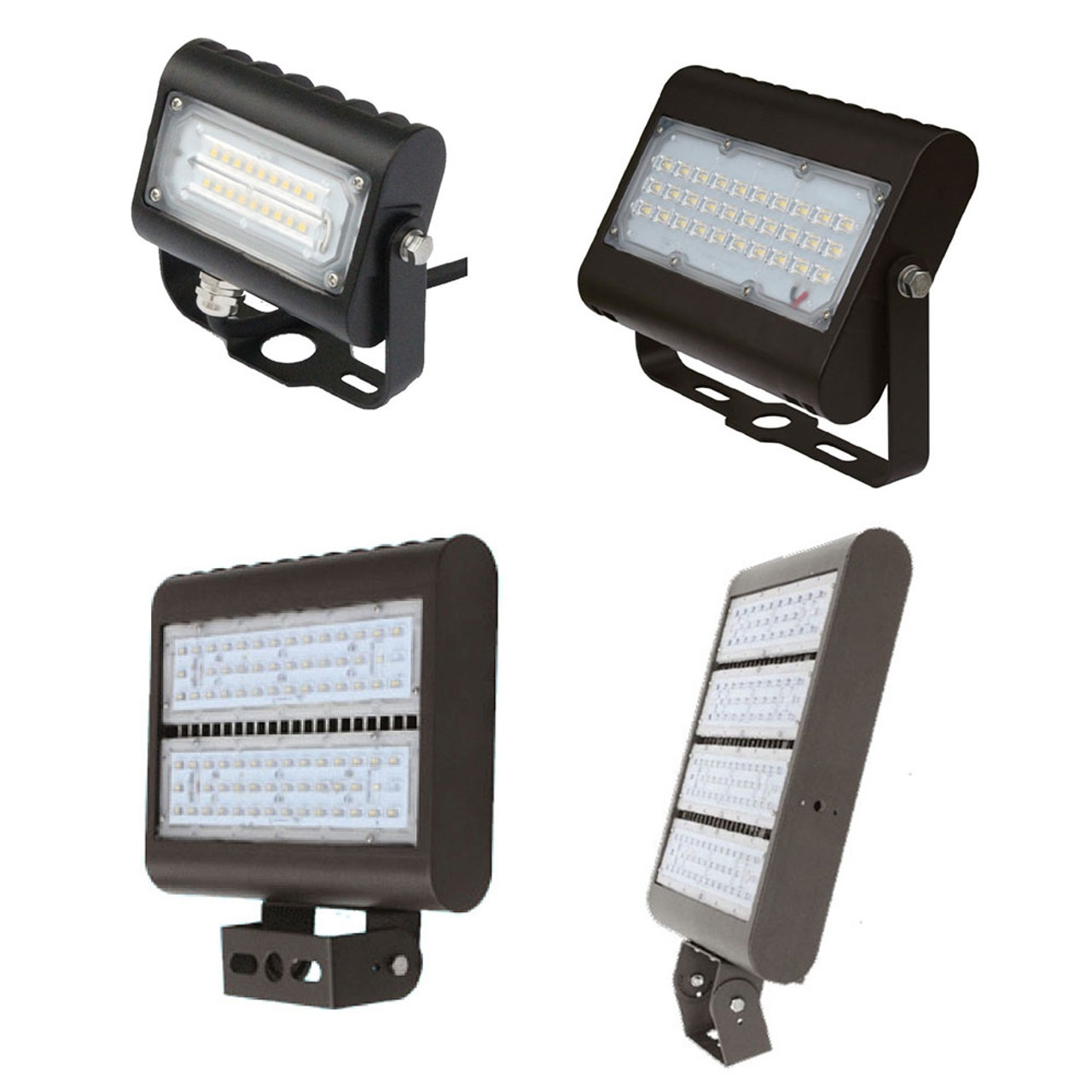 Led Outdoor Flood Light Fixtures For Area Parking And Landscape Lighting Choose Your Wattage And Mount